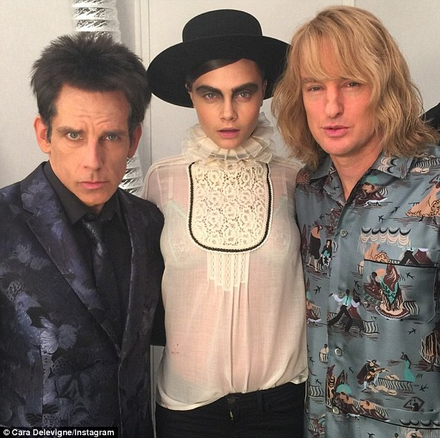 'I plan on finding out what that is!' Cara is also rumoured to be appearing in Ben Stiller's Zoolander 2, as well as Christian Grey's ex Leila Williams in Fifty Shades Darker