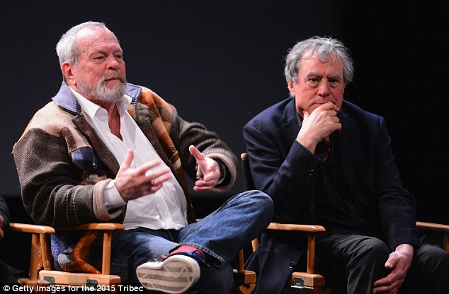 NEW YORK, NY - APRIL 24:  Terry Gilliam and Terry Jones attend the Monty Python Press Conference during the 2015 Tribeca Film Festival at SVA Theater on April 24, 2015 in New York City.  (Photo by Stephen Lovekin/Getty Images for the 2015 Tribeca Film Festival)