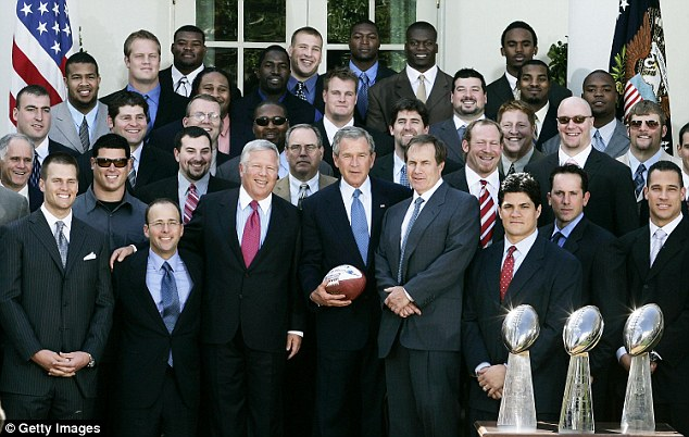 Brady went to the White House to meet President George W Bush after winning the Super Bowl in 2005 and in 2004. He's not going to be there this year