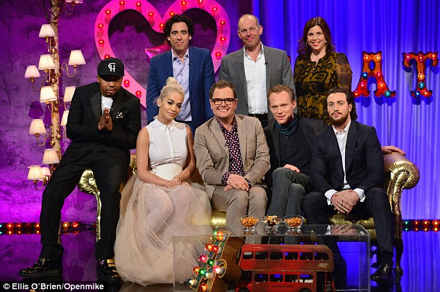 Star-studded: Other guests on the show include British actor Stephen Mangan, Kirstie Allsopp and Phil Spencer as well as Avengers: Age Of Ultron stars Paul Bettany and Aaron Taylor Johnson