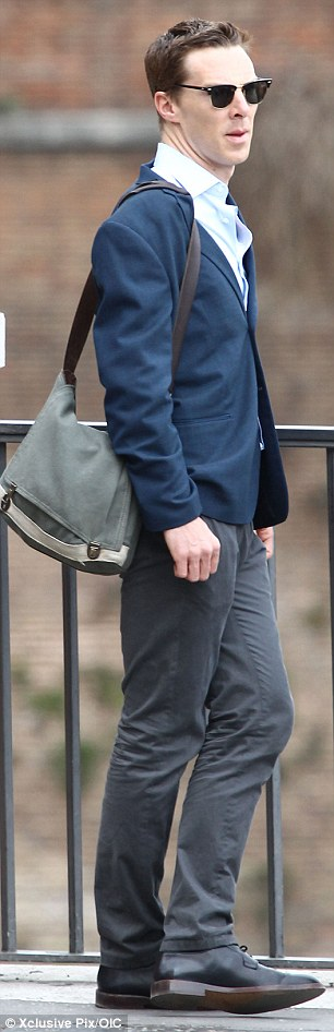 Man of style: Benedict left his pregnant wife Sophie at home as he jetted to Rome where Ben Stiller is shooting the follow-up to his 2001 comedy
