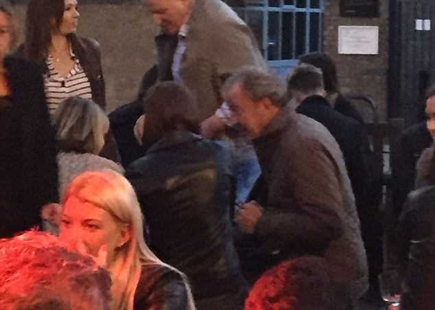 Night out: Clarkson (pictured at the pub last night) was sacked from the BBC after his 'fracas' with Top Gear producer Oisin Tymon