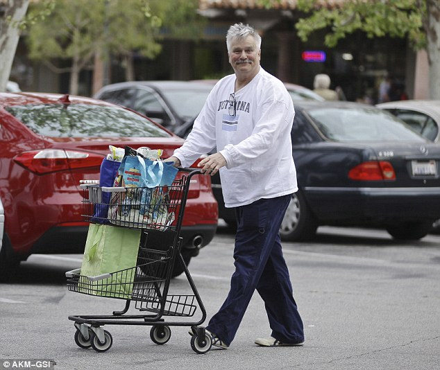 Cashing out: Richard Dean Anderson, 65, spotted grocery shopping in Malibu, California on Wednesday