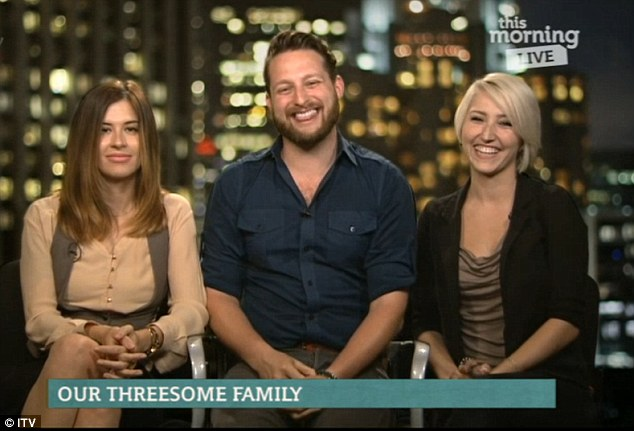 Brooke, right, and Jane appeared on today's This Morning with boyfriend Adam to explain how their polyamorous relationship works and makes them all happy