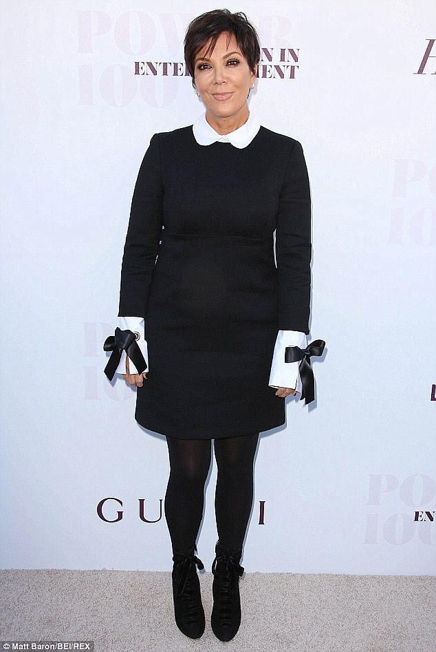 Parting ways: Kris Jenner has decided to sell the dress her daughter Kim Kardashian criticised after she wore it in December