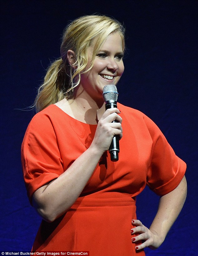 Anything for a laugh: The Inside Amy Schumer funnywoman likened herself to a garden gnome onstage and closed by jokingly asking audience members 'with coke' to find her afterwards