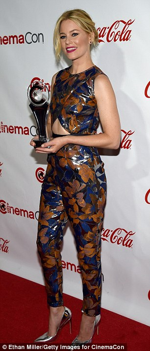 Shiny jumpsuit! Pitch Perfect 2 director Elizabeth Banks took home the Breakthrough Filmmaker award after donning two brown-tinged ensembles