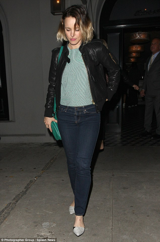 Classic costumer: Rachel teamed with tight jeans with a ladylike patterned green top