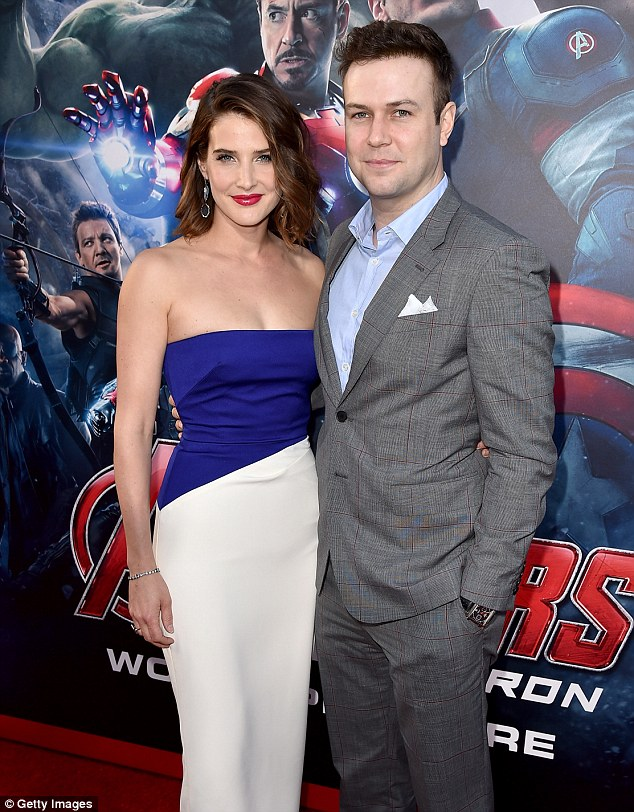 Support system: Cobie attended the Los Angeles premiere of Avengers: Age of Ultron with her husband Taran Killam, with whom she has five-year-old daughter Shaelyn and a three-month-old son