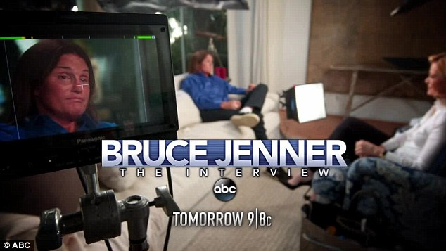 Tight lid: ABC has only released snippets with non-specific quotes from Bruce, paving the way for his story to air in full tonight