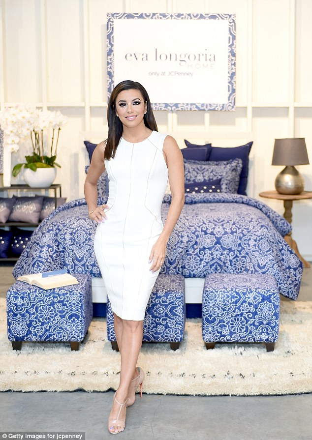 Domestic goddess: On Thursday, Eva Longoria debuted her first home collection, in collaboration with JC Penny