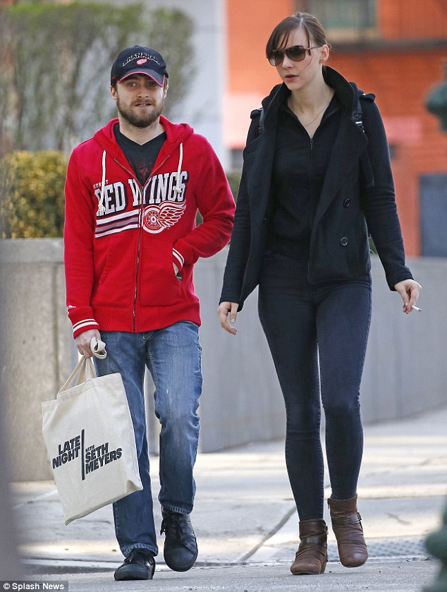 Harry Hotter: Daniel Radcliffe looked casual as he took an afternoon stroll with girlfriend Erin Darke on Wednesday