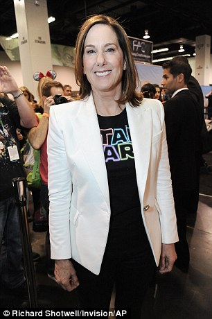 Lucasfilm President Kathleen Kennedy appears on the Cantina set at Star Wars Celebration: The Ultimate Fan Experience held in Anaheim last week