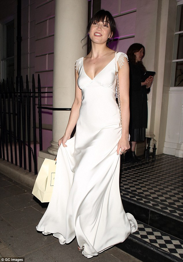 Making an entrance: Daisy Lowe turned heads as she arrived at the Blossom Ball, held at the Jo Malone London Townhouse on Thursday night
