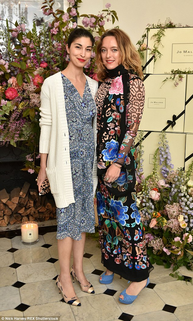 Fashion's finest: Designer Caroline Issa and Alice Temperley caused a stir at the event