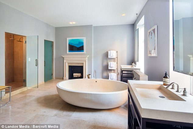 Baths in the city: The townhouse has eight restrooms in total, and the bedrooms on the guest floor have their own bathroom