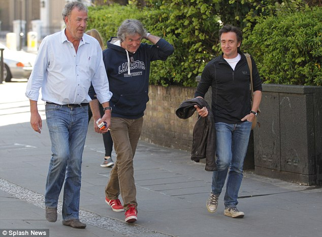 Presenters: May had earlier said the BBC would be 'stupid' to try a version of the hit motoring show with 'a surrogate Jeremy', Richard Hammond and himself - adding that the idea was a 'non-starter'