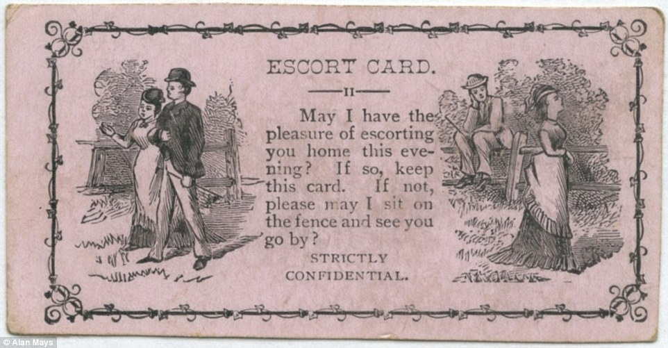 These 'escort cards' were seen as a more casual version of what we today regard as business cards