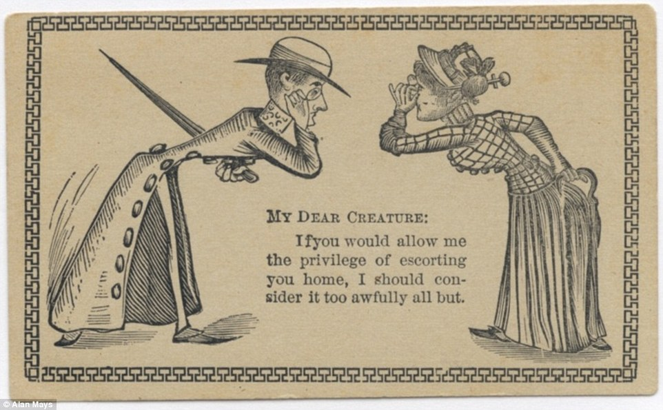 This card addresses its recipient as a 'dear creature'