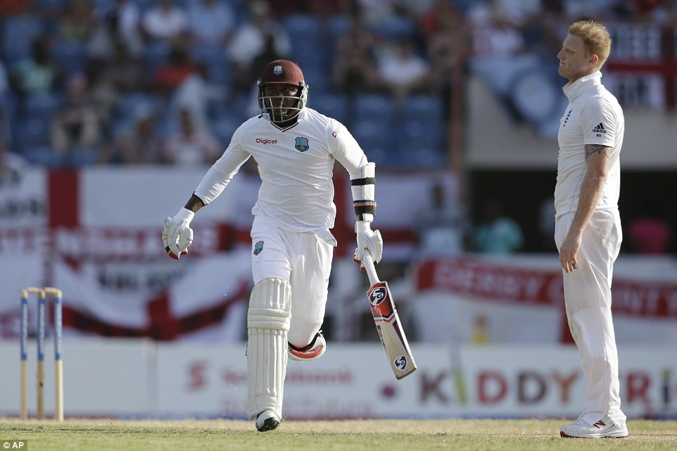 Marlon Samuels had the chance to renew his feud with Ben Stokes but the pair buried the hatchet on a day the West Indies dominated
