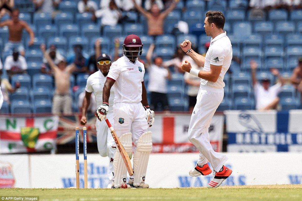 Anderson began to make amends almost immediately when he bowled Devon Smith, off yet another inside edge on the slow wicket
