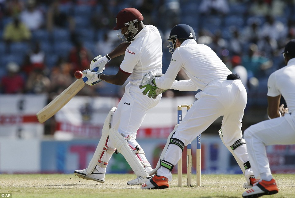 Bravo and Kraigg Brathwaite were relatively untroubled for a long period of the day, as they put on 142 for the second wicket