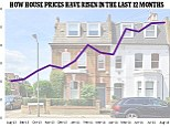 House prices: This graph shows how prices have risen in the last 12 months, but slowed in August
