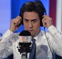 Image ©Licensed to i-Images Picture Agency. 24/04/2015. London, United Kingdom. Ed Miliband joins radio DJ Iain Dale on a live phone in on LBC, Central London, UK. Picture by Ben Stevens / i-Images