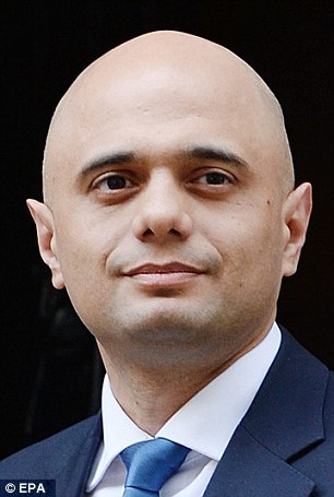 The claim will be seen as a tacit endorsement of the leadership ambitions of Culture Secretary Sajid Javid (pictured), the only current Asian Tory seen as a potential contender