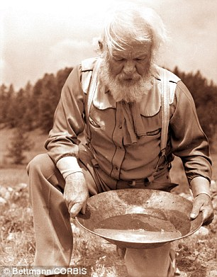 Panning for gold: Local streams have been well known for grains of gold of 'significant size' for decades
