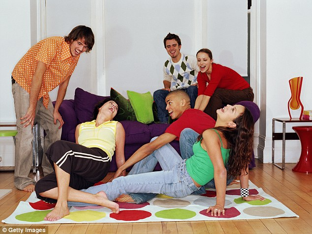 Today, dinner parties are more likely to end with a game of Twister, researchers have found