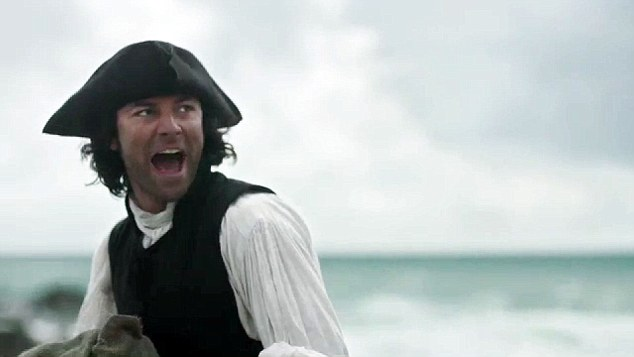 Here to help: Poldark plays the hero as he runs to the rescue