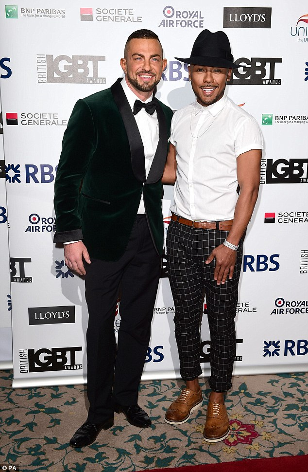 Cute couple: Robin Windsor (left) and Marcus Collins make a dapper pair