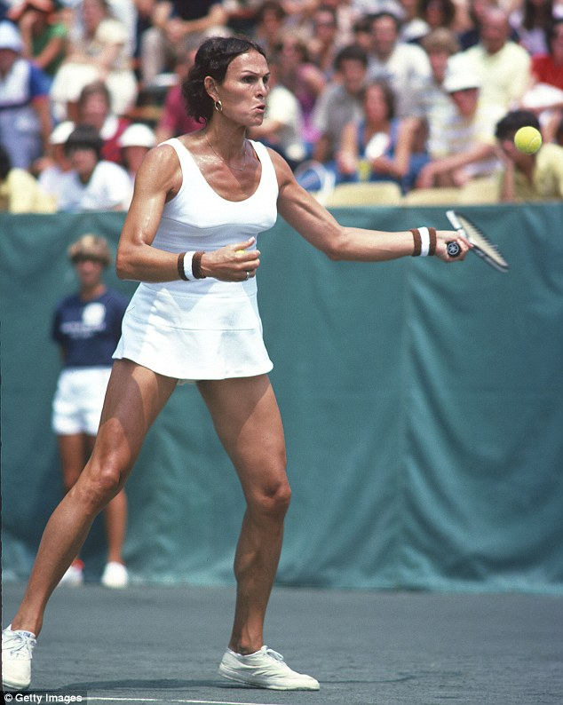 Inspiration: Transgender tennis player Renee Richards won the right to complete as a woman in the 1977 U.S. Open after winning a landmark legal battle. Richards was born a boy in 1934