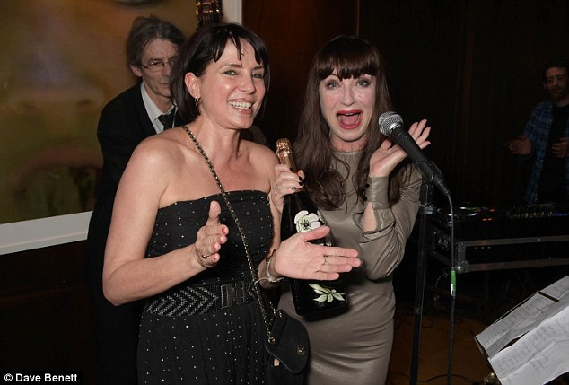 Celebrating: Sadie and singer Collette Cooper clearly managed to have a good time at the event