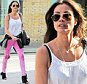 7 APRIL 2015  - LONDON  - UK\n*** EXCLUSIVE ALLROUND PICTURES ***\nMELANIE SYKES OUT SHOPPING IN SUNNY SOUTH KENSINGTON. THE PRESENTER WAS LOOKING FOXY AND STRUTTING HER STUFF AS SHE WALKED THE STREET IN RIPPED PINK JEANS AND A VEST.\nBYLINE MUST READ : XPOSUREPHOTOS.COM\n***UK CLIENTS - PICTURES CONTAINING CHILDREN PLEASE PIXELATE FACE PRIOR TO PUBLICATION ***\n**UK CLIENTS MUST CALL PRIOR TO TV OR ONLINE USAGE PLEASE TELEPHONE  442083442007