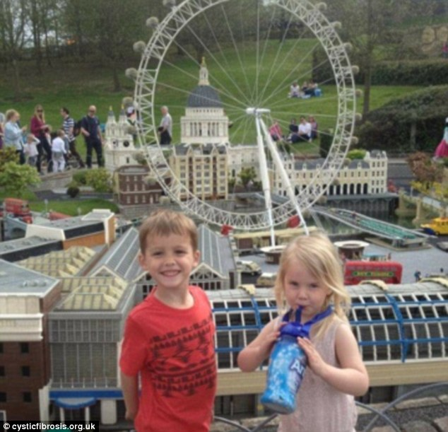 Jessie pictured with his sister Tigerlily during a visit to Legoland
