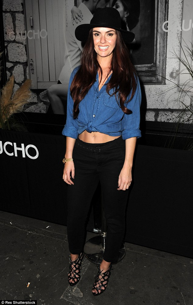 Out and about: Jennifer Metcalfe attended The Bar at Gaucho launch party in Manchester on Thursday night