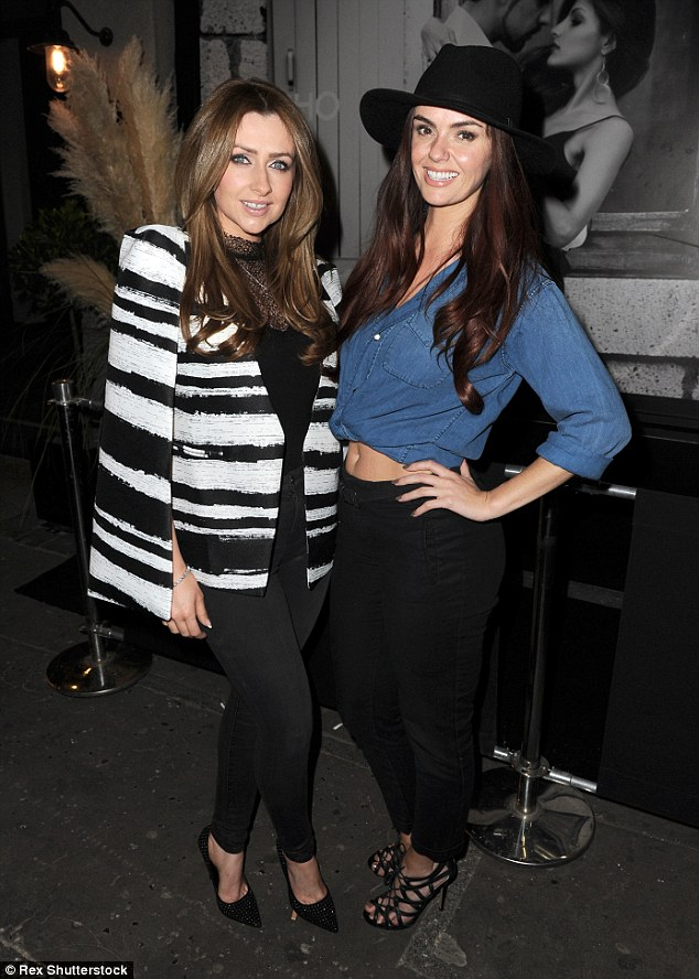In good company: Jennifer was joined on her night out by her BFF Gemma Merna