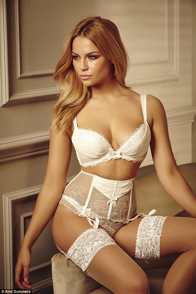 Billed by the brand as 'perfect for every blushing bride', the lingerie and loungewear collection comes in soft palettes of ivory and nude, and is not without a raunchy streak