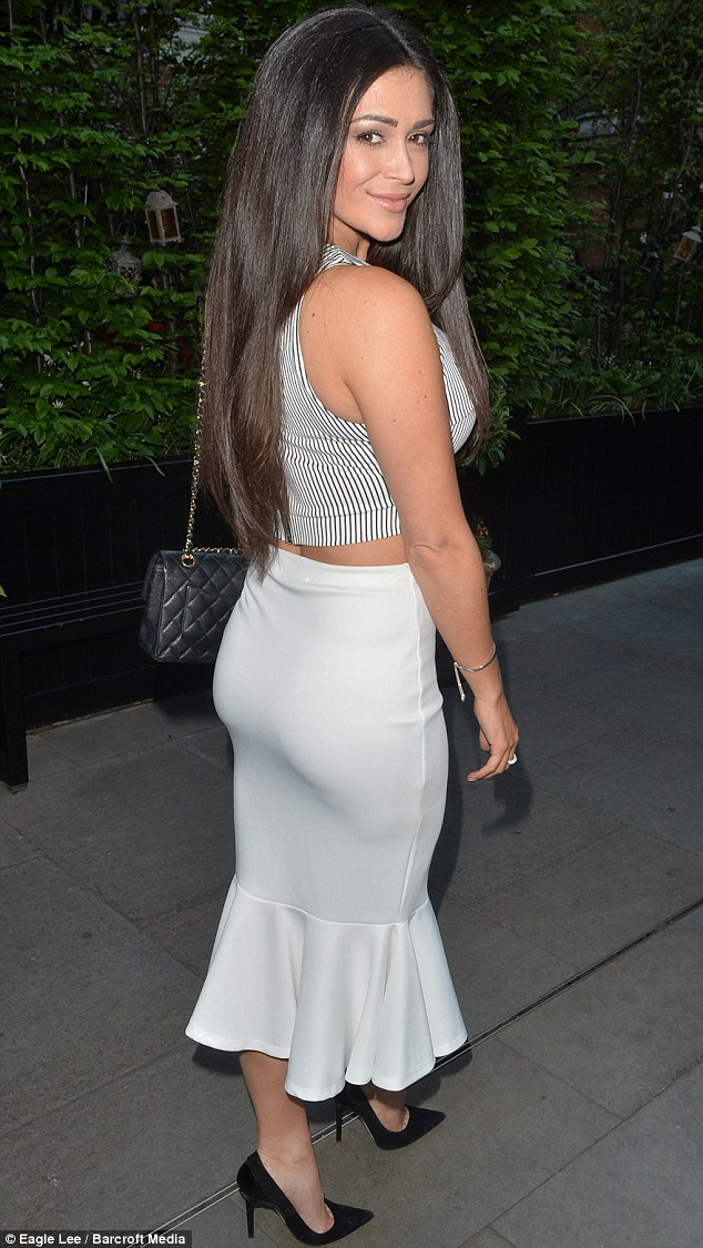 Dressed to impress: Casey Batchelor pulled off a sporty yet glamorous look as she set off for supper at London's upmarket Chiltern Firehouse on Thursday night