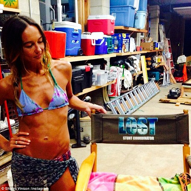 Slender: Sharni Vinson took to Instagram on Friday posted a flashback photo of her extremely slim and muscular physique