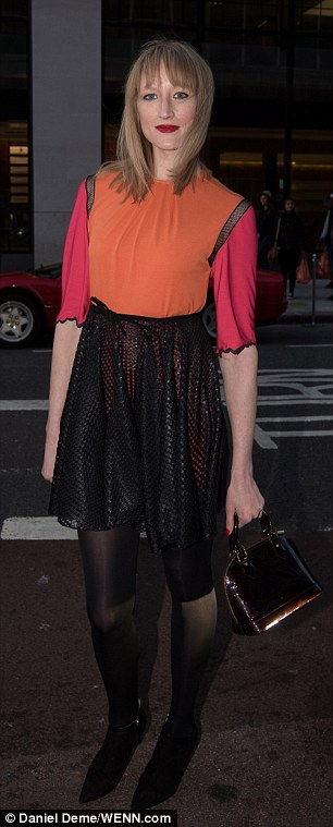 Eye-catching: Model and fashion writerJade Parfitt went for a multicoloured look
