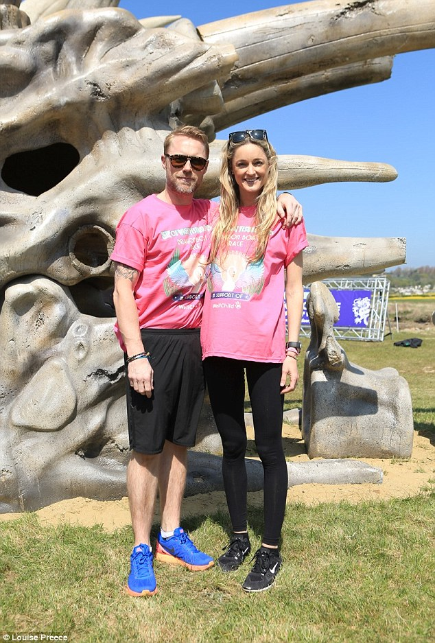 Smitten: Ronan popped the question to his girlfriend of three years during a romantic trip to Thailand in March