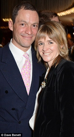 Dominic West and his wife Catherine Fitzgerald (pictured in February) are reluctantly selling her ancestral home for £4.6 million because of the cost of its upkeep