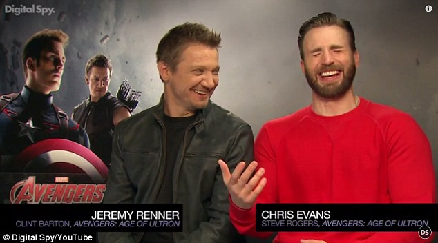 'She's leading everybody on': The pair were asked about what they thought of a Black Widow and Bruce Banner romance after it was believed she might get together with one of the characters they play