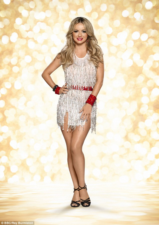 She's back: Ola Jordan has returned to Strictly Come Dancing, despite being forced to pull out of Channel 4 show The Jump in December after suffering a devastating ski injury during training