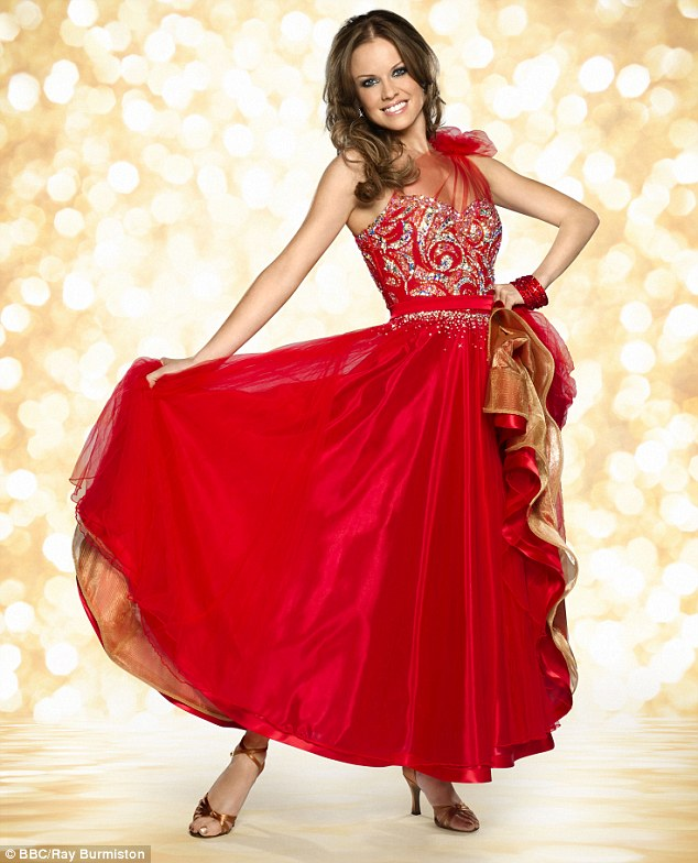 Lady in red: Joanne Clifton is yet another of the glamorous ladies who will strut her stuff on the dancefloor
