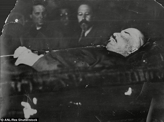 The Bolshevik leader's remains were embalmed on Stalin's orders when he died aged 53 in 1924 and kept on display in Moscow apart from a period in the Second World War