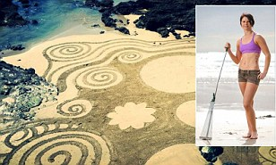 Artist, 24, creates stunning sculptures using beaches as her blank canvas just one month